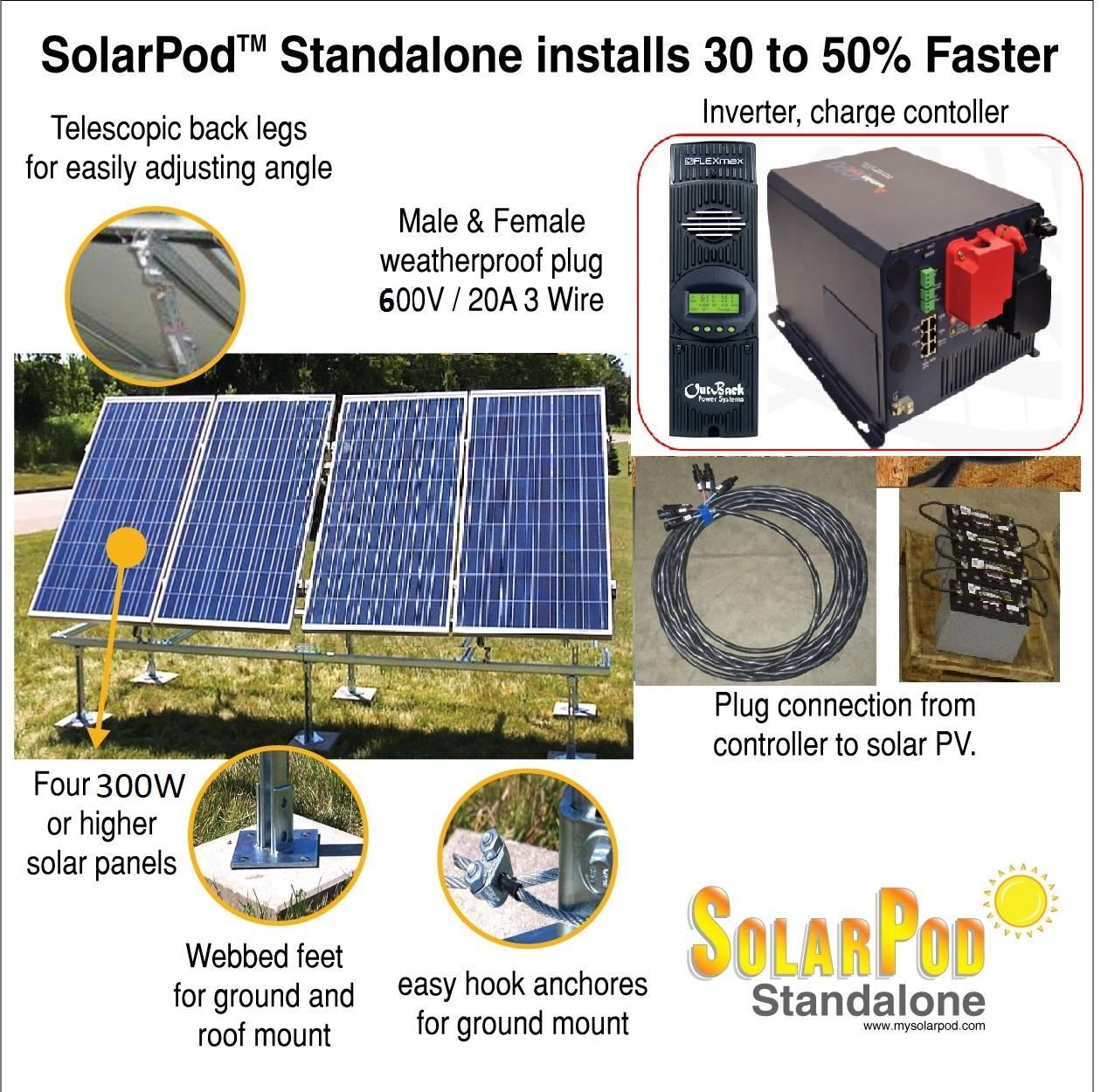 Model 1004 Solarpod Standalone 12 Kw Solar Pv System Wiring Panels To Grid Tie Inverter 2kw Charger