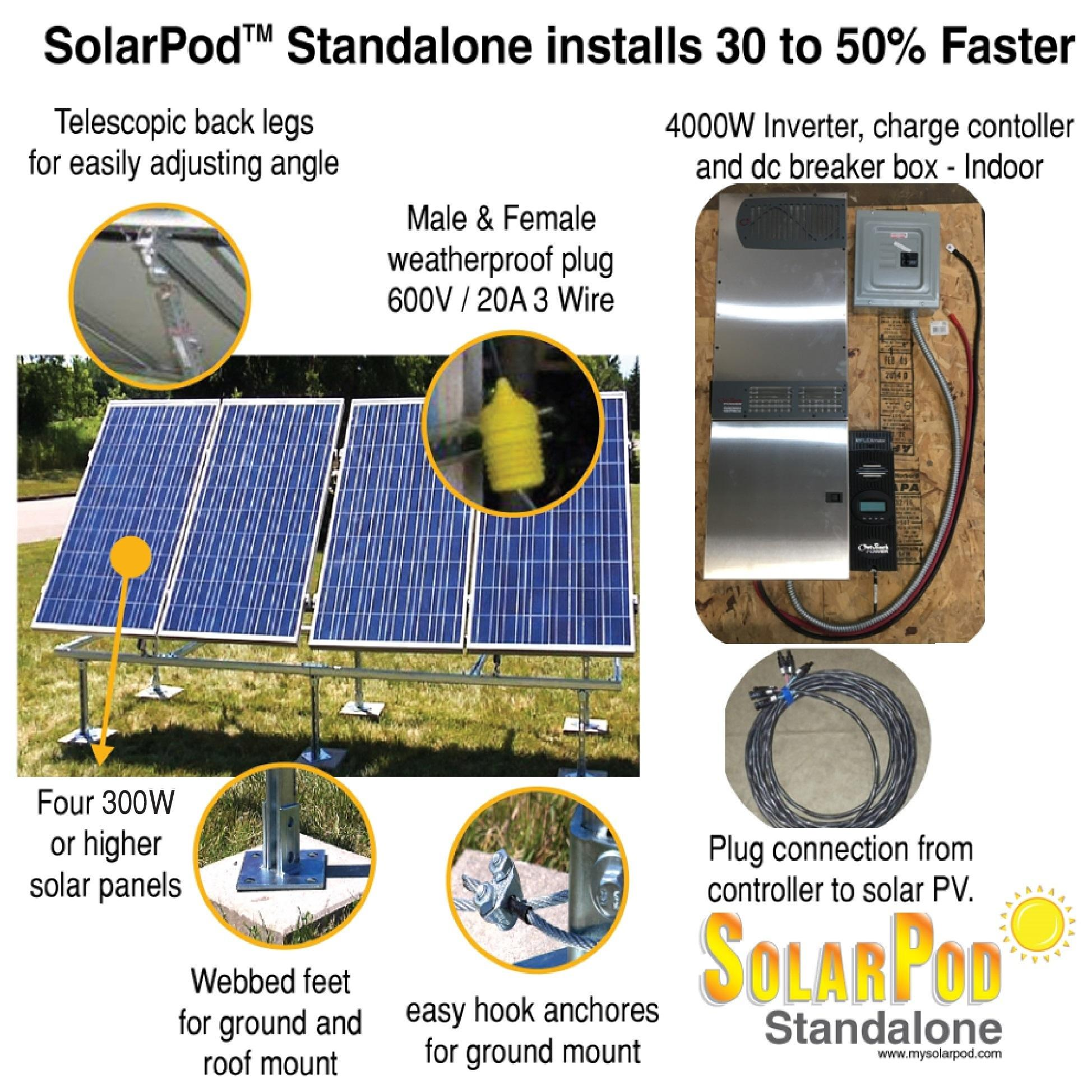 MODEL #1005 - SolarPod Standalone - 1.2kW Solar PV System; 4kW ... on off grid air conditioning, off grid lighting, off grid electrical systems, off grid battery, off grid blueprints, off grid tools,